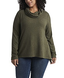 Women's Plus Size Cowl Neck Tunic
