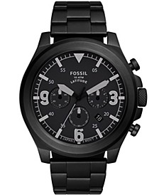 Men's Latitude Black-Tone Bracelet Watch 50mm