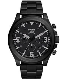 Men's Latitude Black-Tone Bracelet Watch 50mm