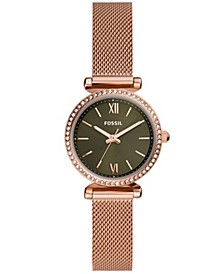 Women's Carlie Mini Rose Gold-Tone Mesh Watch 28mm