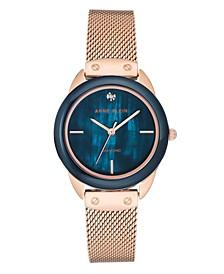 Women's Rose Gold-Tone Mesh Stainless Steel Bracelet Watch 32mm