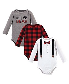 Baby Boys 3 Piece Cotton Bodysuit