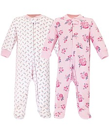Baby Boys and Girls 2 Piece Premium Quilted Zipper Sleep and Play