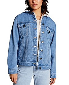 Women's Sherpa Denim Trucker Jacket
