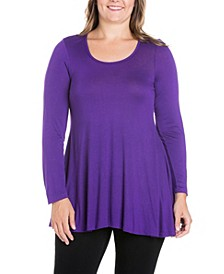 Women's Plus Size Poised Swing Tunic Top