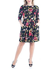 Women's Plus Size Fit and Flare Party Dress