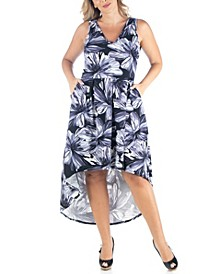 Women's Plus Size High Low Dress