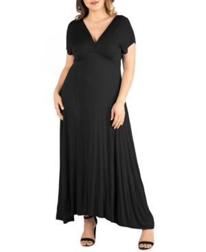 1930s Dresses | 30s Art Deco Dress Womens Plus Size Empire Waist Maxi Dress $56.69 AT vintagedancer.com