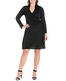 Women's Plus Size Mini Wrap Dress