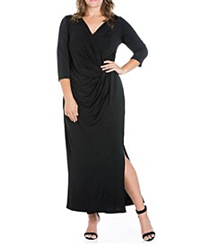 Women's Plus Size Side Slit Maxi Dress