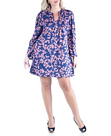 Women's Plus Size Floral Print Shift Dress
