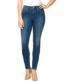 Women's Midrise Skinny Long Length Jeans