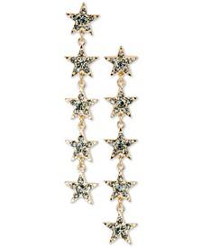 Gold-Tone Crystal Celestial Linear Drop Earrings