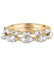 Gold-Tone 2-Pc. Set Marquise-Crystal Rings