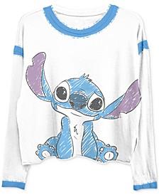 Juniors Stitch Long-Sleeve Ringer T-Shirt