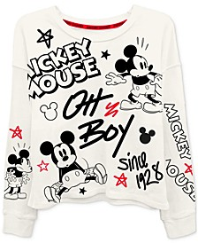 Juniors' Classic Mickey Mouse Long-Sleeved Graphic T-Shirt