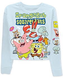 Juniors Spongebob Graphic Print Long-Sleeve T-Shirt