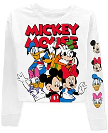 Juniors' Mickey Mouse & Friends Long-Sleeved Graphic T-Shirt
