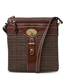 Plaid Glazed Crossbody, Created for Macy's