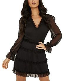 Ruffled Fit & Flare Dress