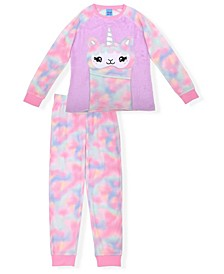 Big Girl's Minky Fleece Novelty Pajama Set, 2 Piece