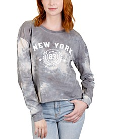 Juniors' New York Tie-Dye Graphic T-Shirt