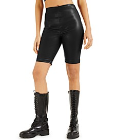 CULPOS X INC Faux-Leather Biker Shorts, Created for Macy's