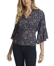 Women's Tulle Paisleys Top
