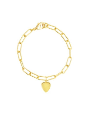 Paperclip Chain Bracelet with Heart