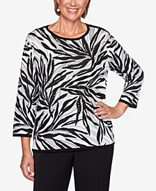 Women's Plus Size Knightsbridge Station Animal Jacquard Sweater