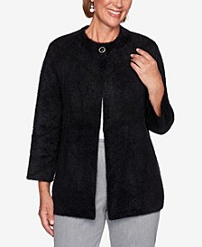 Women's Plus Size Knightsbridge Station Cozy Chevron Jacket