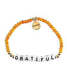 Grateful 18k Gold Plated Crystal Bracelet