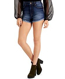 Juniors' Ultra-High-Rise Curvy-Fit Jean Shorts