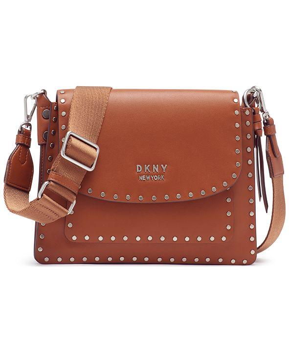 DKNY Pauline Flap Leather Crossbody