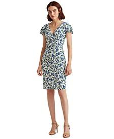 Flutter-Sleeve Surplice Dress