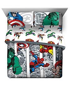 Comic Cool Queen Bed Set, 5 Pieces