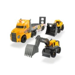 """Dickie Toys 28"""" Mack Truck with 2 Volvo Construction Trucks"""