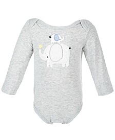 Baby Boys & Baby Girls Elephant Bodysuit, Created for Macy's