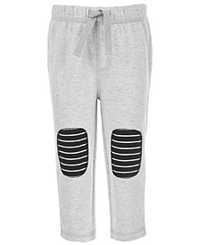 Baby Boys Striped Knee Patch Pants, Created for Macy's