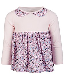 Toddler Girls Long Sleeve Cotton Floral Tunic, Created for Macy's