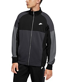 Men's Standard-Fit Colorblocked Track Jacket