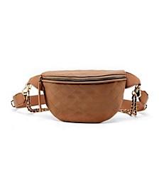 Quilted Chain Embellished Belt Bag
