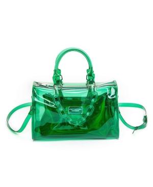 Clear Chain Barrel Handbag