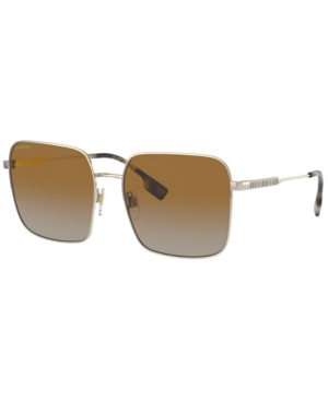 Burberry Jude Polarized Sunglasses, Be3119 58 In Brown