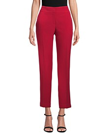 Stretch Crepe Slim-Leg Pants