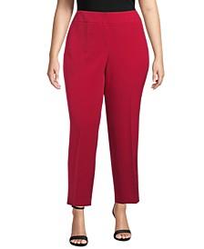 Plus Size Stretch Crepe Slim-Leg Pants