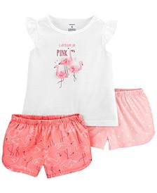 Toddler Girls 3-Piece Loose Fit PJs