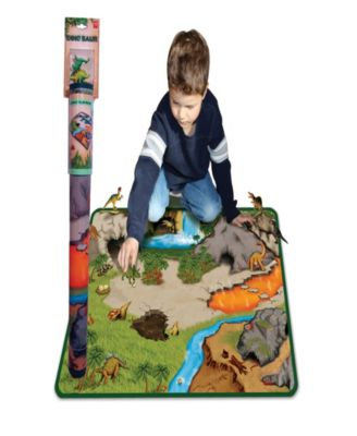 Dinosaur 2 Sided Playmat with 2 Toys
