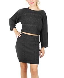 Juniors' Bell-Sleeve Sweater Set