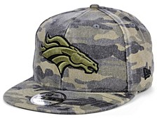 Men's Denver Broncos Worn Camo 9FIFTY Cap